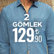 2 Gömlek 129.90TL