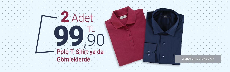 Gömlek ve Polo tişörtlerde geçerli fırsat...