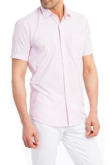 Kısa Kol İnce Çizgili Gömlek