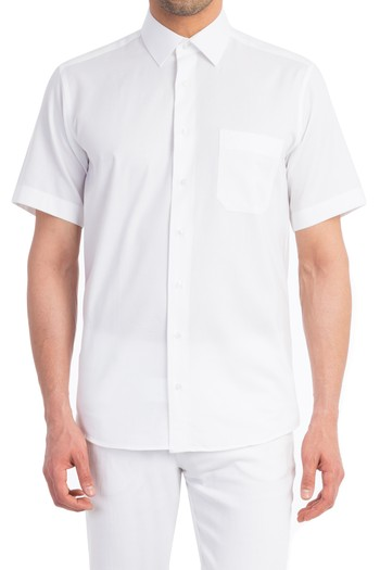 Kısa Kol Oxford Gömlek