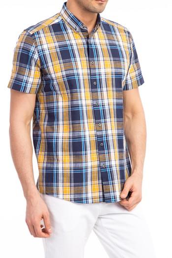 Kısa Kol Spor Ekose Gömlek