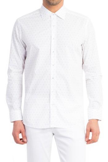 Uzun Kol Baskılı Gömlek