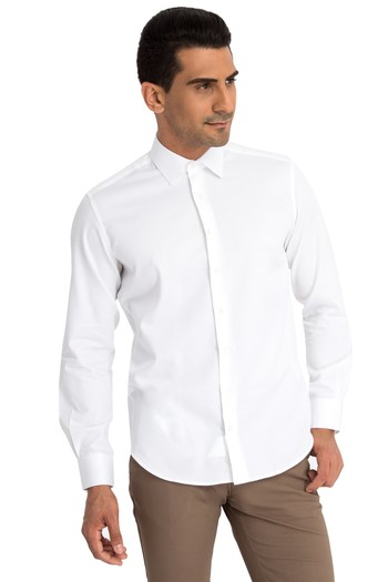 Uzun Kol Slimfit Manşetli Gömlek