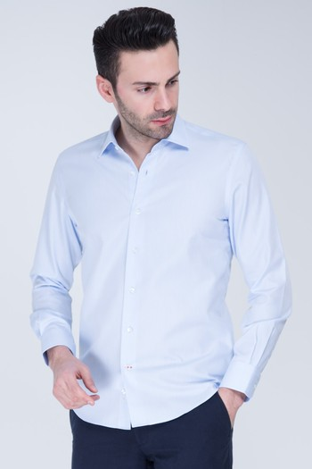 Uzun Kol Swıss Cotton Slimfit Gömlek