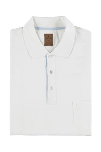 Büyük Beden Polo Yaka Merserize Tişört