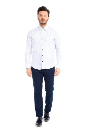 Uzun Kol Çizgili Slimfit Gömlek