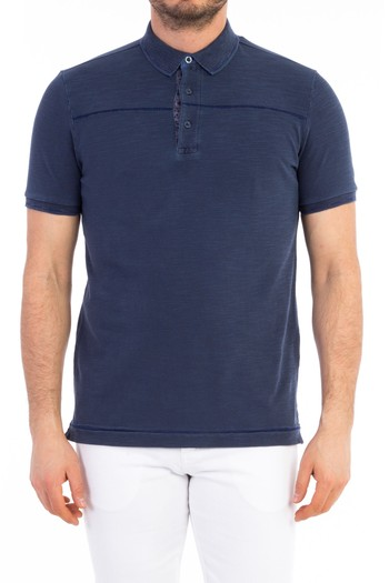 Polo Yaka Regular Fit Tasarım Tişört