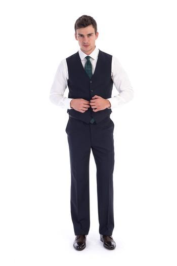 Çizgili Yelekli Takım Elbise