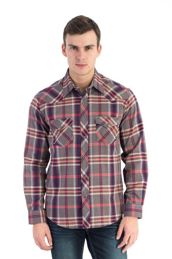 Uzun Kol Slimfit Denim Gömlek