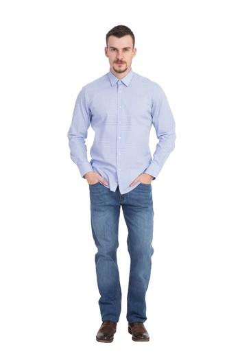 Uzun Kol Kareli Slimfit Gömlek