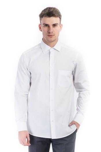 Uzun Kol Slimfit Düz Gömlek