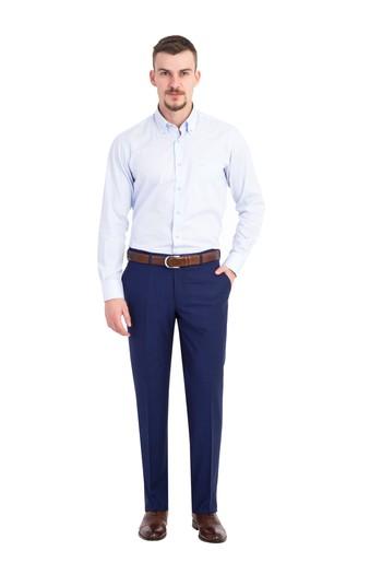 Kareli Slimfit Pantolon