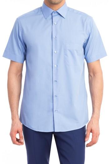 Kısa Kol Düz Klasik Gömlek