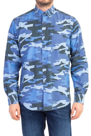 Uzun Kol Tasarım Denim Gömlek