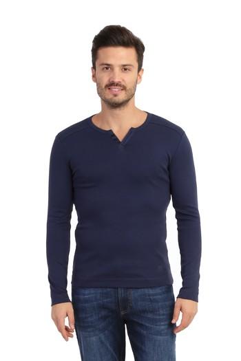 V Yaka Slimfit Sweatshirt