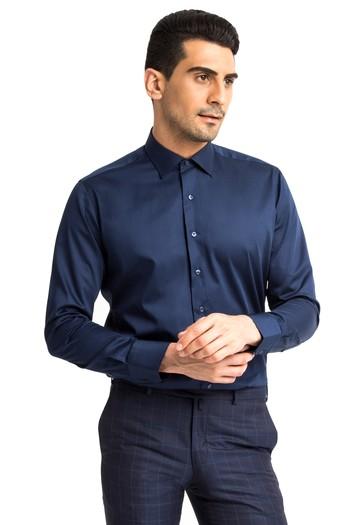 Uzun Kol Slimfit Saten Gömlek