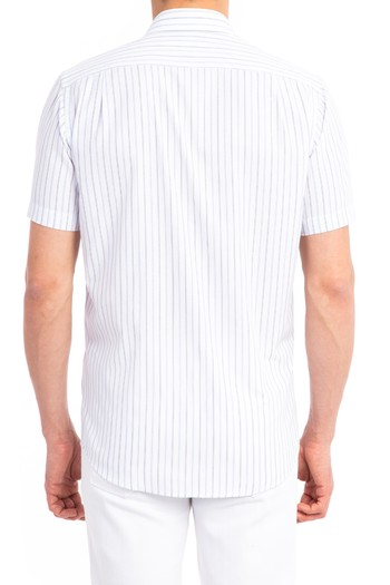 Kısa Kol Çizgili Gömlek