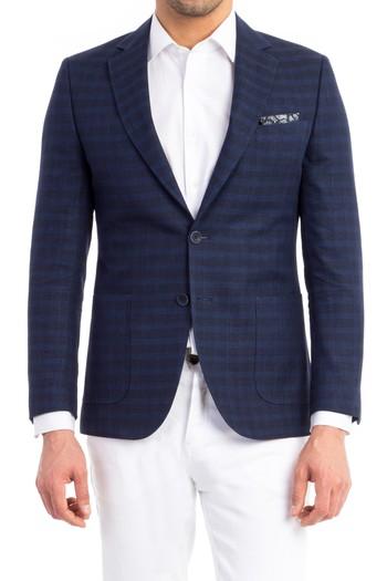 Slimfit İtalyan Kareli Ceket
