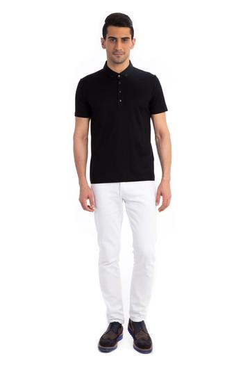 Polo Yaka Düz Merserize Tişört