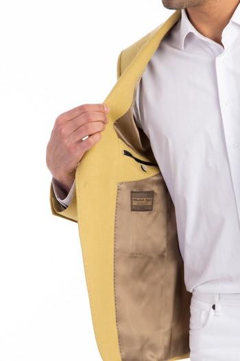 İtalyan Slimfit Desenli Ceket