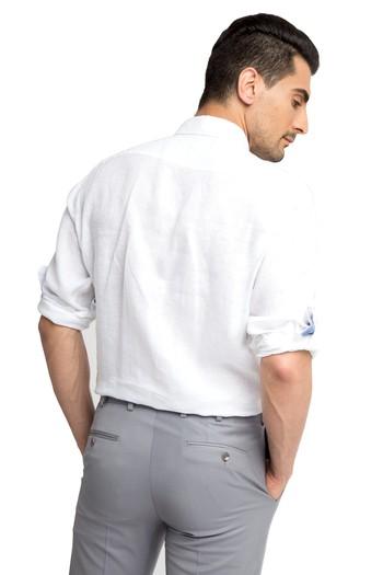 Uzun Kol Tasarım Keten Gömlek