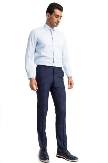Slimfit Ekose Pantolon