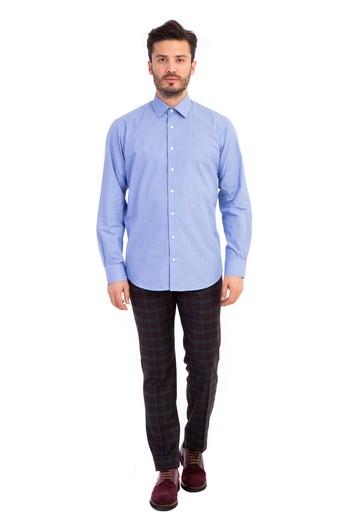 Uzun Kol Düz İtalyan Gömlek