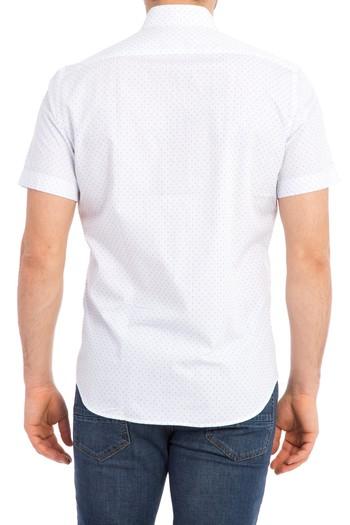 Kısa Kol Slimfit Desenli Gömlek