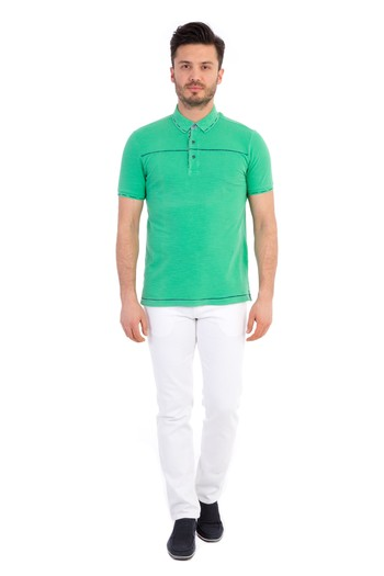 Polo Yaka Regular Fit Tasarım Tişört