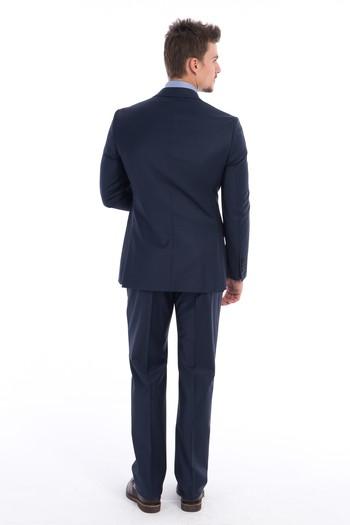 Slimfit Kruvaze Takım Elbise
