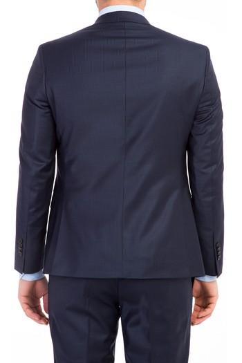 Slimfit Çizgili Takım Elbise