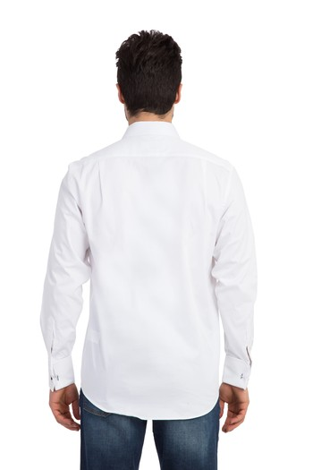 Uzun Kol Manşetli Saten Gömlek