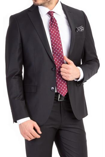 Süper Slimfit Düz Takım Elbise