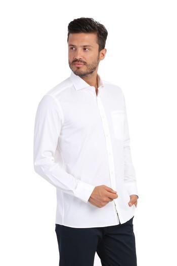 Uzun Kol Slimfit Tasarım Gömlek