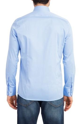 Uzun Kol Saten Slimfit Gömlek