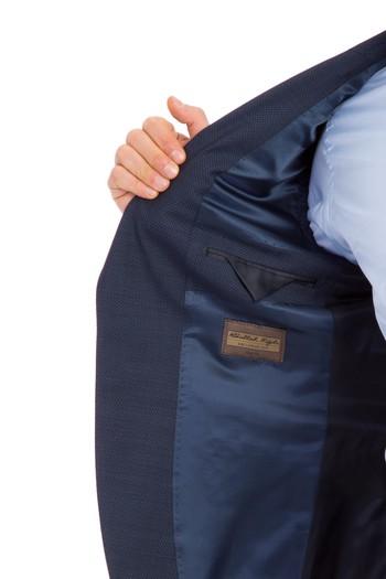 Slimfit Kuşgözü Takım Elbise