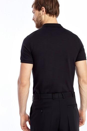 Polo Yaka Düz Slimfit Tişört