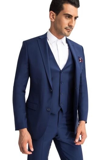 e36f724a505f0 KOYU MAVİ Slim Fit Yelekli Takım Elbise | 7B1D9YS06O052 - Kiğılı