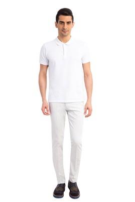 Erkek Giyim - Krem 46 46 Slim Fit Saten Pantolon