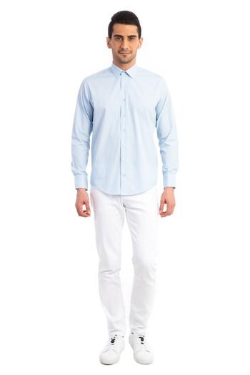 Uzun Kol Düz Slimfit Gömlek