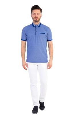 Erkek Giyim - Polo Yaka Desenli Tişört