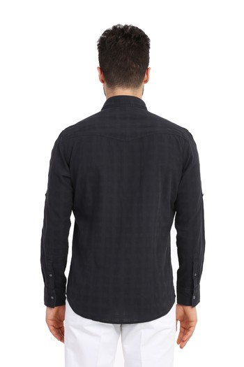 Uzun Kol Denim Gömlek