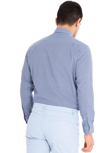 Uzun Kol Slimfit Keten Gömlek