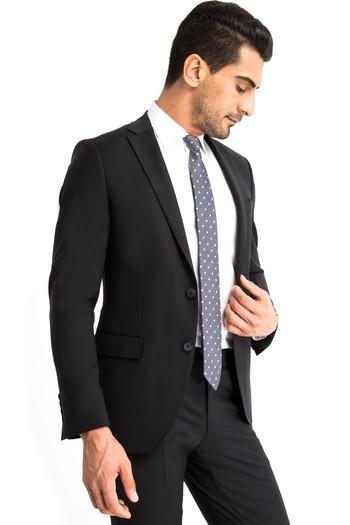 Süper Slim Fit Düz Takım Elbise