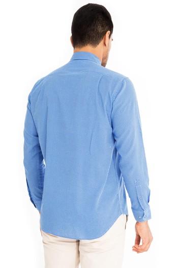 Uzun Kol Keten Slimfit Gömlek