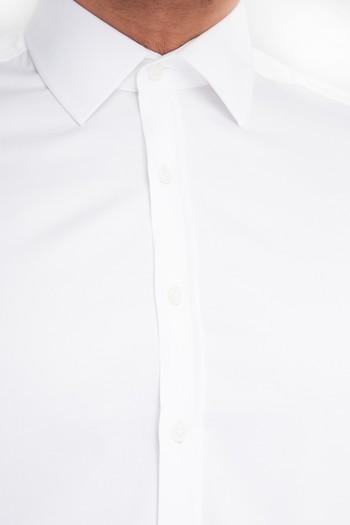Kısa Kol Slimfit Saten Gömlek