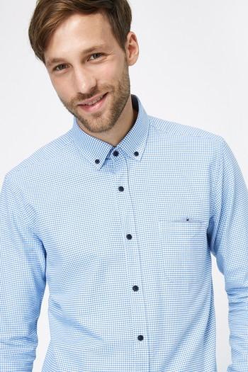 Uzun Kol Slimfit Kareli Gömlek