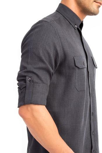 Uzun Kol Flanel Desenli Gömlek