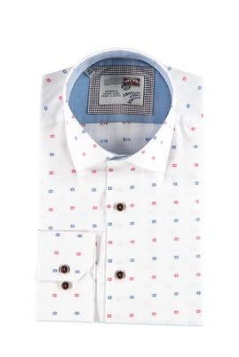 Uzun Kol Desenli Tasarım Gömlek