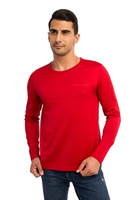 BİSİKLET YAKA REGULAR FIT MERSERİZE SWEATSHIRT